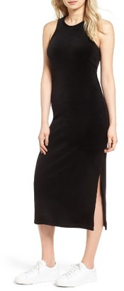 Women's Juicy Couture Stretch Velour Tank Midi Dress $128 thestylecure.com