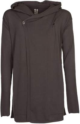Rick Owens One-side Wrapped Effect Hoodie