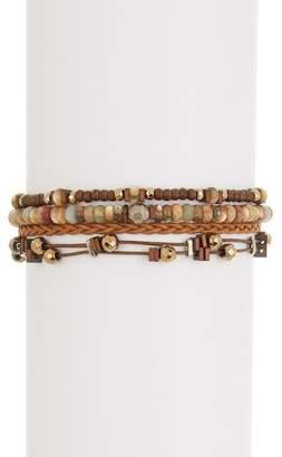 Chan Luu Sterling Silver Stone Beaded Bracelet