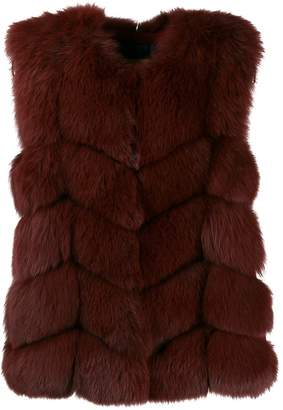 Yves Salomon short fur vest