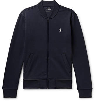 Polo Ralph Lauren Tech-jersey Zip-up Sweatshirt - Navy