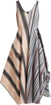 Sportmax Striped mid-length A-line dress