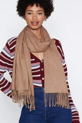 Nasty Gal Fringe in High Places Wool Scarf
