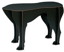 Ibride Sultan Black Dog Stool