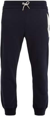 Moncler Chevron-detail cotton-jersey track pants