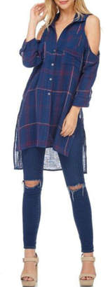 Anama Plaid Buttondown Tunic
