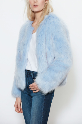 UNREAL FUR Faux Fur Dream Blue Jacket