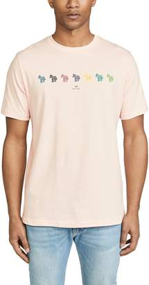 Paul Smith Multi Zebra Stripe T-Shirt