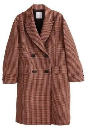 MANGO Double-breasted check coat