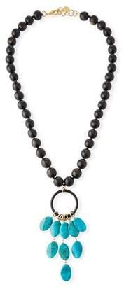NEST Jewelry Ebony Wood Long Beaded Necklace