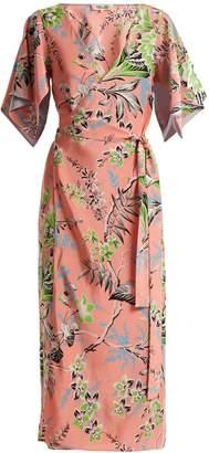 Diane von Furstenberg Floral-print V-neck silk wrap dress