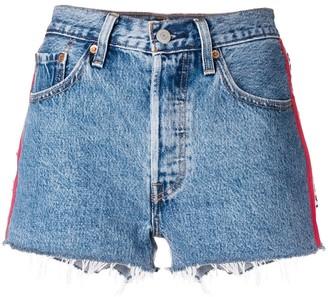 Levi's side bands denim shorts