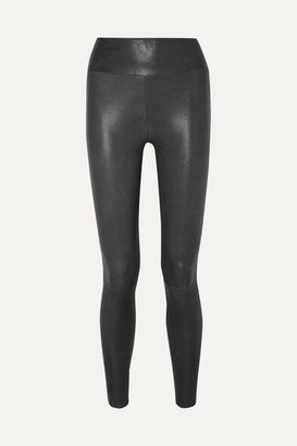 SPRWMN Leather Leggings - Charcoal