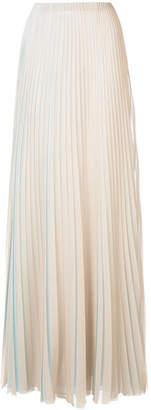Vionnet pleated maxi dress