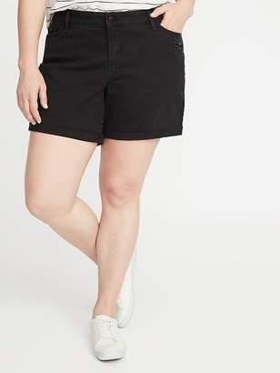 Old Navy Mid-Rise Distressed Plus-Size Boyfriend Denim Shorts - 5-inch inseam