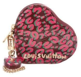 Louis Vuitton Leopard Heart Coin Purse