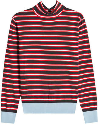 Marni Striped Wool Turtleneck Pullover