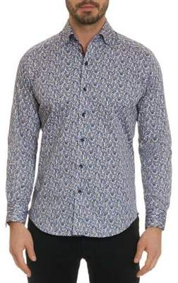 Robert Graham Richardson Classic-Fit Graphic Button-Down Shirt