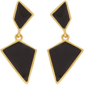 Kenneth Jay Lane Geometric drop clip earrings