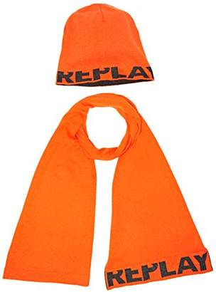 Replay Men's Am8007.000.a7059 Scarf and Hat, Orange, (Manufacturer Size: UNIC)