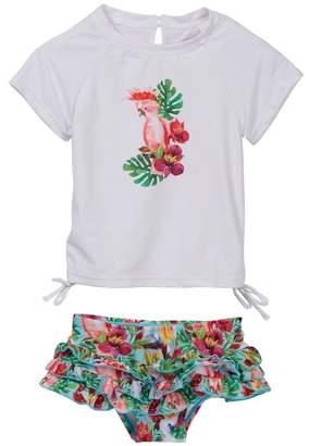 Snapper Rock Ruffle Set Swimwear (Baby Girls)