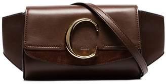 Chloé brownThe C leather belt bag