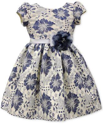 Jayne Copeland Blue Floral Lace Dress, Toddler & Little Girls (2T-6X) $74 thestylecure.com