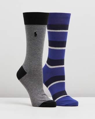 Polo Ralph Lauren 2-Pack Multi Stripe Rugby Socks