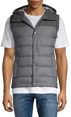 Black & Brown Black Brown Quilted Puffer Vest