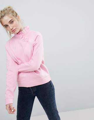Soaked in Luxury Soaked In Luxury High Neck Ruffle Sweatshirt