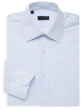 Ike Behar Checkered Long-Sleeve Dress Shirt