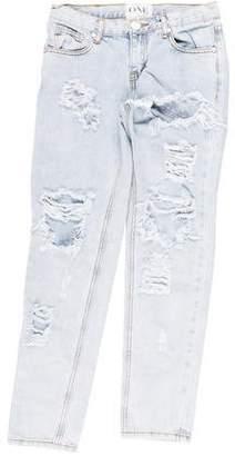 One Teaspoon Mid-Rise Straight-Leg Jeans