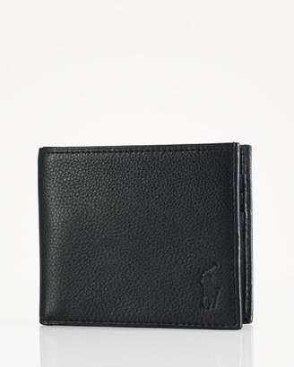 Ralph Lauren Pebbled Leather Billfold Wallet