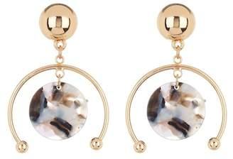 Ettika Acrylic Disc Half Hoop Earrings