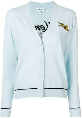 Kenzo tiger embroidered cardigan