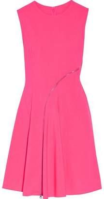 McQ Zip-Embellished Broadcloth Mini Dress