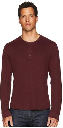 Vince Double Knit Long Sleeve Henley Men's Clothing