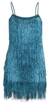 Rachel Zoe Della Metallic Fringe Mini Dress
