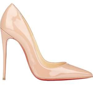 Christian Louboutin Women's So Kate Patent Leather Pumps-Nudeflesh