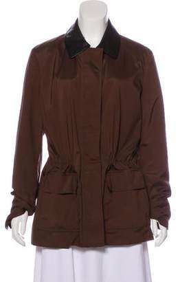 Loro Piana Leather-Accented Zip-Up Jacket