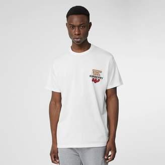 Burberry Monogram Motif Cotton Oversized T-shirt