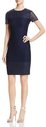 St. John Caris Lace-Detail Knit Dress