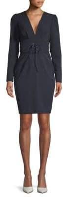 Alexia Admor Corset V-Neck Dress