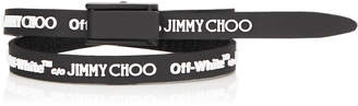 Jimmy Choo CONSTANCE Black Logo Rubber Bracelet