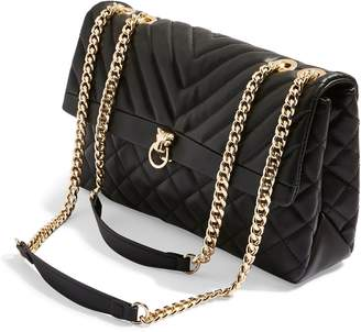 Topshop Panther Quilted Faux Leather Shoulder Bag