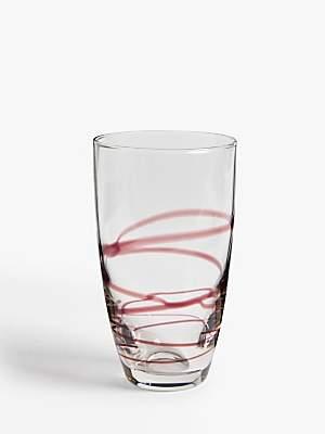 John Lewis & Partners Bohemian Summer Brushstroke Swirl Highball Glass