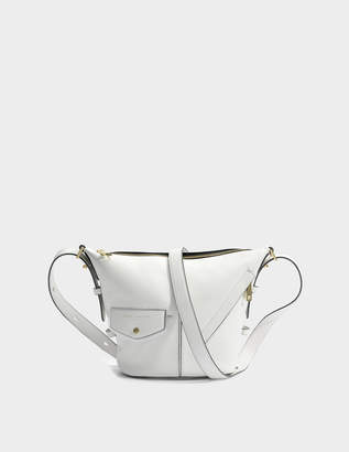 Marc Jacobs The Mini Sling Bag in White Glow Cow Leather