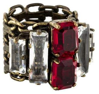 Lanvin Crystal Chain Band