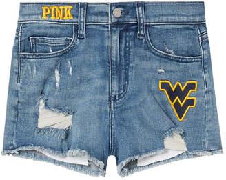 PINK West Virginia University High-Waist Denim Short