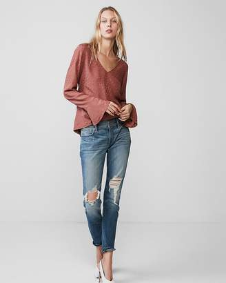 Express Long Flare Sleeve Blouse